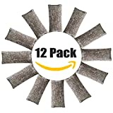 Appliances : 12 Pack Natural Air Purifying Bags and Odor Remover, Shoe Deodorizer and Odor Eliminator 100% Natural Non-Toxic