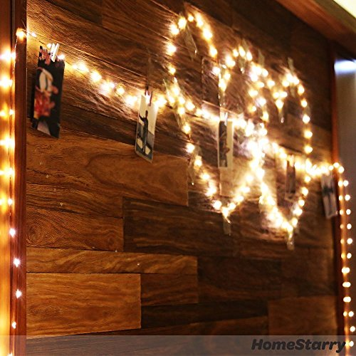 Extra Long 100foot 300led Starry String Lights Warm White on a Flexible Copper Wire, 100foot Starry Lights for Indoor, Outdoor, Decorative , Patio, Wedding, Garden, Room by MineTom (Image #4)