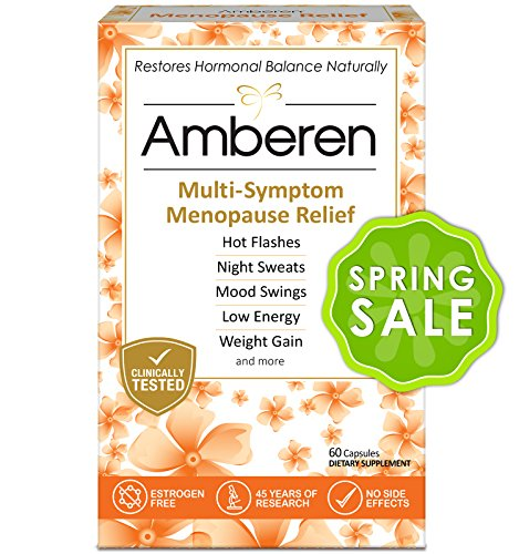 UPC 899234001019, Amberen - Menopause Relief Supplement for Hot Flashes, Irritability, Sleeplessness, Low Libido, Joint & Muscle Pain and Other Symptoms of Menopause (1-months course)
