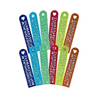 "Amscan Party Favors Rulers item 8 7/8 ""x 1 3/4"" Multicolor"