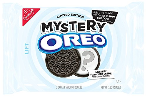 Oreo Limited Edition Mystery Chocolate Sandwich Cookies 15.25 Ounce ( Pack of 2)