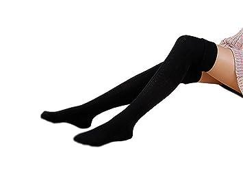 Mujer gestrickte Rodillera alta Calcetines, tukis portadas de invierno cálidos por encima de la rodilla
