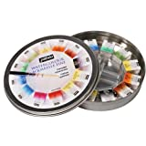 Pebeo Fine Watercolours Round Metal, Box of 12 Half Pans, 1 Brush and 1 Palette