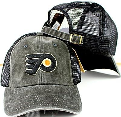 Philadelphia Flyers NHL American Needle Raglan Bones Soft Mesh Back Slouch Twill Cap