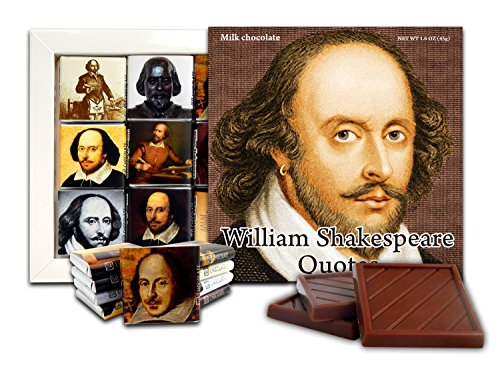 DA CHOCOLATE Cute Candy WILLIAM SHAKESPEARE QUOTES Chocolate Gift Set 5x5in 1 box (Shakespeare Prime)(0414)