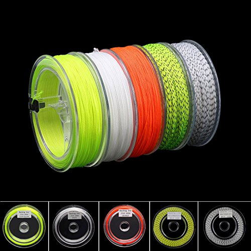 Aventik Double Colors Backing for Fly Fishing Poly Braided Line 30lb, 110yards (Yellow+black)