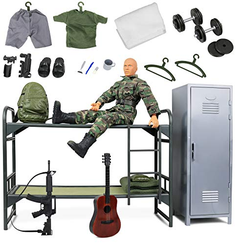 12 Inch Military Figures (Click N' Play Military Camp Bunk House Life 12