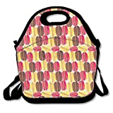 Best Picnic Plus Lunch Boxes - HOOAL Tasty Macaroons Food Lunch Box Bag Lunch Review