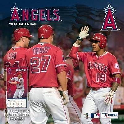Los Angeles Angels 2018 Team Wall Calendar