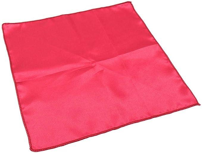 Bourgogne 50 pcs//lot Serviette de Table 30 cm carr/é Satin Tissu Poche Mouchoir Tissu pour Mariage////év/énement f/ête h/ôtel Fournitures pour la Maison