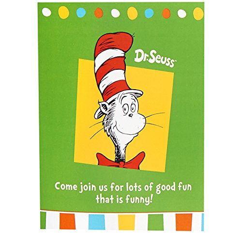 Dr Seuss Cat in the Hat Party Supplies - Invitations (Dr Seuss Party Invitations)