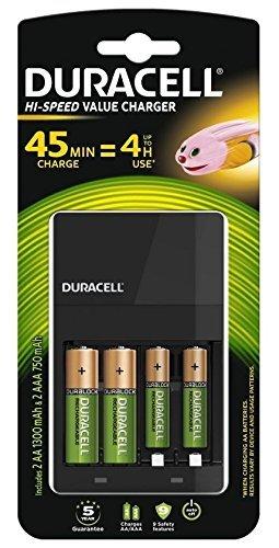 Duracell CEF14 Indoor battery charger Negro - Cargador (Corriente alterna, 100-240, 50/60, 4 pieza(s), Níquel-metal hidruro...