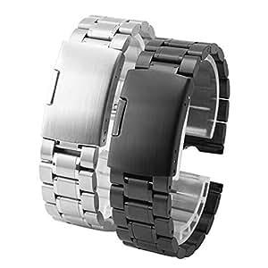 Japace® 22 mm de acero inoxidable Sólido Replacement Uhrenarmband Correa De Reloj Pulsera Watch Band correa de acero Venda De Reloj para el Motorola ...