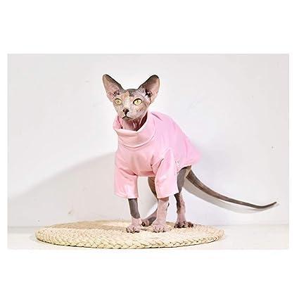 f58c19ae199 DENTRUN Hairless Cats Shirt Cat Wear Turtleneck Cat Designer Warm Clothes,  Sweater Best Hairless Cat's PHijama Clothes Cat's Pajamas Jumpsuit Cat