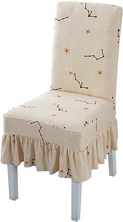 Fundas para sillas Silla De Moda For Mesa De Comedor Juego De Cojines Desmontables Simples Silla De Comedor (Color : Brown, Size : 4 Packs): Amazon.es: Hogar