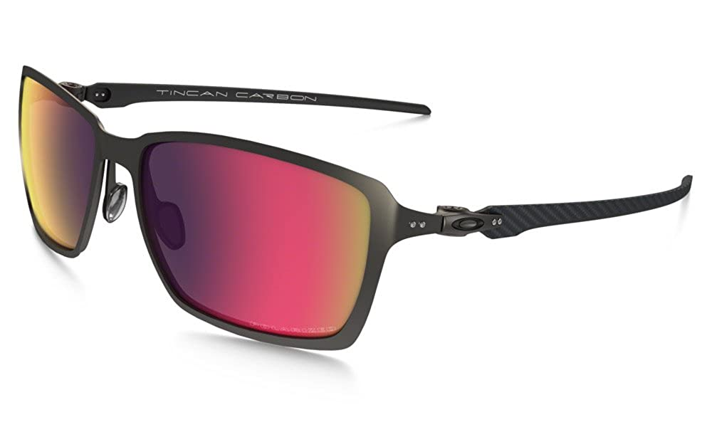 7ec4e5a5ccbf5 Amazon.com  Oakley Men s Tincan Carbon Polarized Iridium Rectangular  Sunglasses