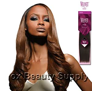 "VELVET 100% HUMAN HAIR REMI YAKI WVG-12"" Color 4 Medium Brown"