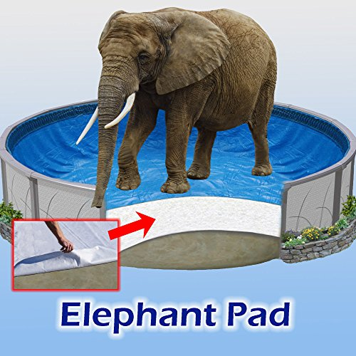 18x33 ft Oval Pool Liner Pad, Elephant Guard Armor Shield ()