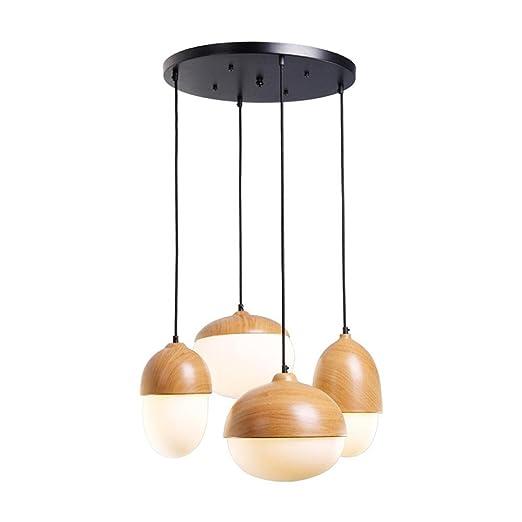 Amazon.com: DMMSS - Lámpara de techo de hierro con cristal ...