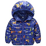 Down Cotton Jacket Boys/Girls Camouflage - LSERVER Winter Printing Kids Girl/Boy Hooded Short Outerwear Coat