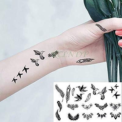 5 Piezas Pegatinas de Tatuaje Temporal a Prueba de Agua Copo de ...
