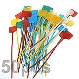 TEKEFT Pack of 50pcs 6 Inch Marker Nylon Cable