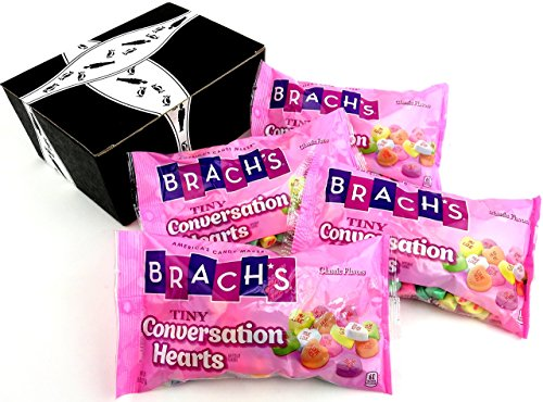 Brach's Heartlines Tiny Conversation Hearts, 8 oz Bags in a