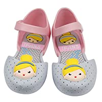iFANS Girls Cute Princess Jelly Shoes Mary Jane Flats for Toddler Little Kids,Blue,8 M US Toddler