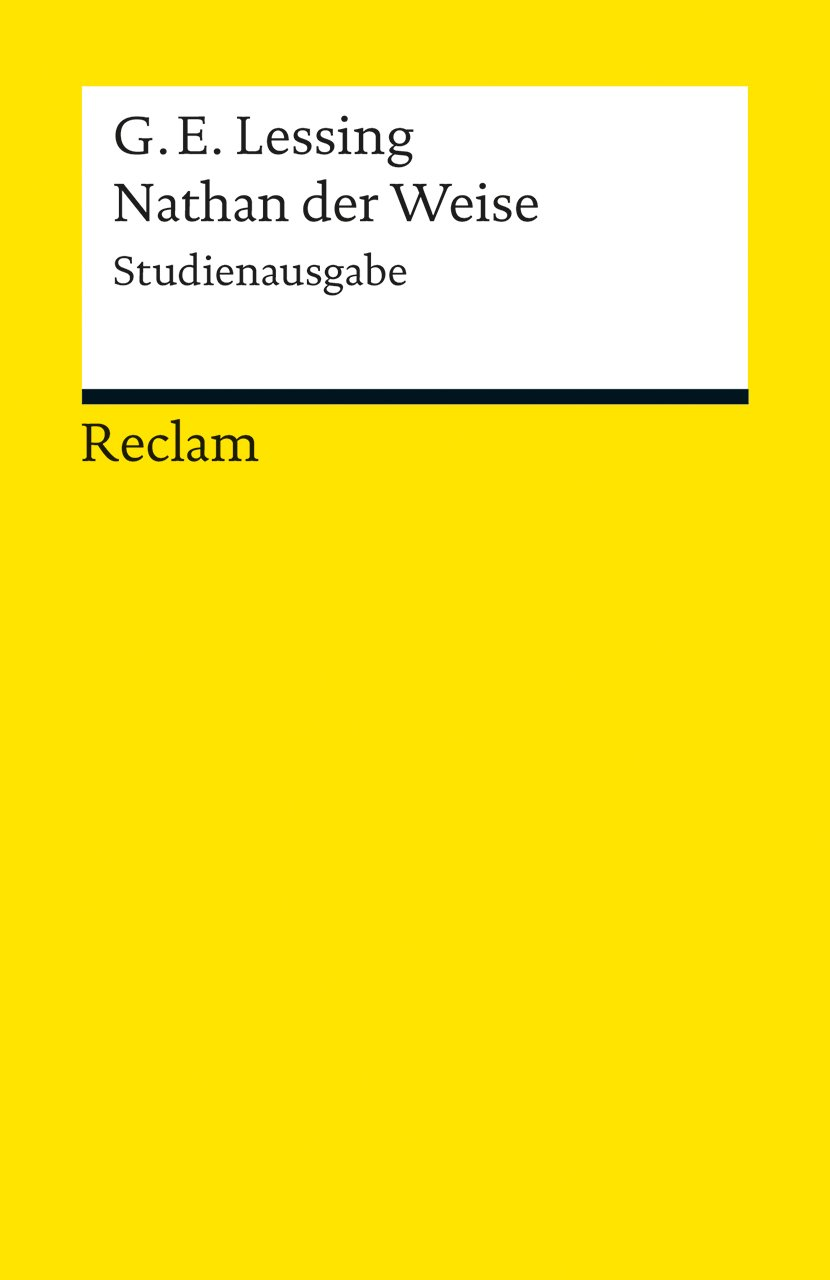 Nathan der Weise: Studienausgabe (Reclams Universal-Bibliothek)