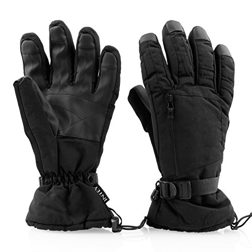 INTEY Winter Gloves Windproof Waterproof Thinsulate Warm for Man & Women, Outdoors, Ski, Bike, Snowmobile in Cold Weather (Ski Mobile)