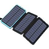 Hiluckey Portable Solar Charger 24000mAh Solar Power Bank...