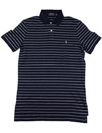 Polo Men's Pony Logo Striped Interlock Polo Shirt French Navy Blue