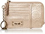 the sak womens Women's Iris Leather Card Wallet, Nude Metallic Leaf, One Size US