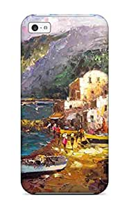 Shock-dirt Proof Oil Paintings Case Cover For Iphone 5c Sending Free Screen Protector