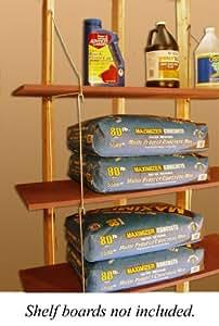 "Quick - Shelf Hangers Three Shelf 16"" Deep Wall Mount Shelving Unit"