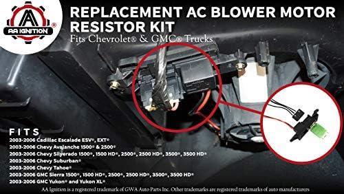 Amazon.com: AC Blower Motor Resistor Kit with Harness - Replaces 89019088,  973-405, 15-81086, 22807123 - Compatible with Chevrolet, GMC & Cadillac  Vehicles - Silverado, Tahoe, Suburban, Avalanche, Sierra, Yukon: AutomotiveAmazon.com