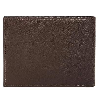 Perry Ellis Men's Manhattan Men's Pebble Leather Passcase Wallet (Dark Brown)