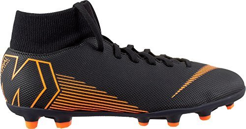 Nike Adult Mercurial Superfly 6 Club MG Multi Firm Ground Soccer Cleats for Men/Women ( Black/Orange / M6.5W8 )