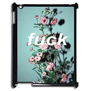 LSQDIY(R) Flower Lace Fuck Quote iPad2,3,4 Case Cover, Customized iPad2,3,4 Cover Case Flower Lace Fuck Quote