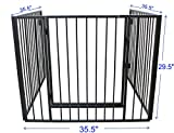 Lizh Metalwork Fireplace Fence Baby Safety Fence Hearth Gate BBQ Metal Fire Gate Fireplace Guard Screen