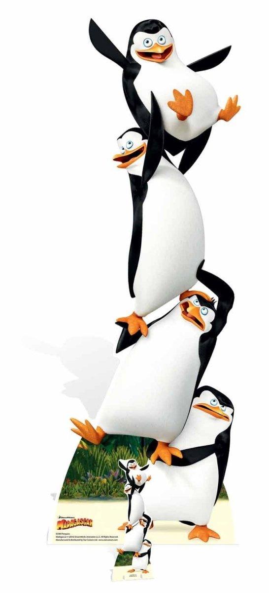 Penguins Madagascar Movie Life Size Cardboard Cutout SC969