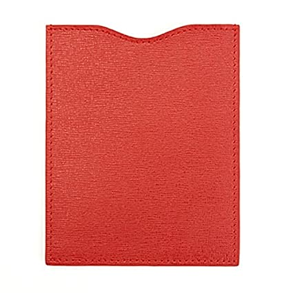 Royce Leather RFID Blocking Passport Sleeve in Saffiano, Red RFID-210-RED-2