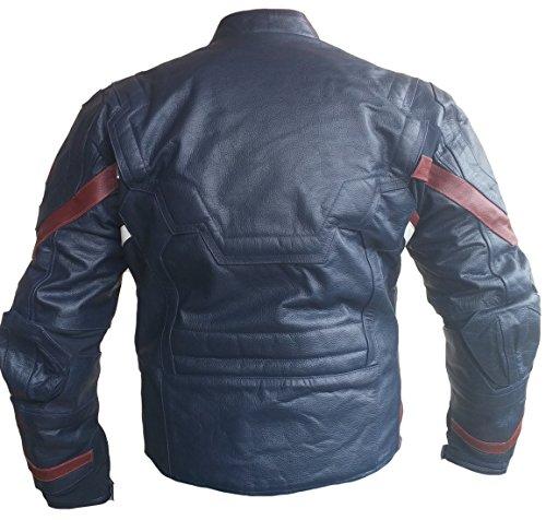 Real piel moda alta Hombre calidad Blue de Capitán Ultron chaqueta classyak Split qXfII