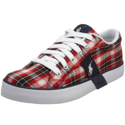 Polo by Ralph Lauren Toddler/Little Kid Giles Vulcanized Sneaker,Navy/Red Plaid,6.5 M US - Kids Lauren Ralph Discount