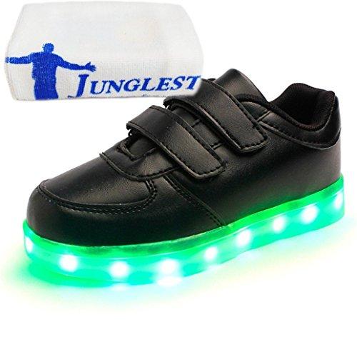 [+Kleines Handtuch]Kinderschuhe USB Lade Licht Jungen emittierende Schuhmädchenschuh leuchtende LED beleuchtete Sportschuhe großer Junge Sc c10