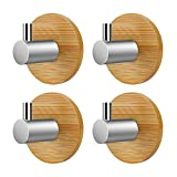 VISEN adhesive wall hanger towel hook for clothes coat hat key bath and headphones (Pack of 4 Hooks)