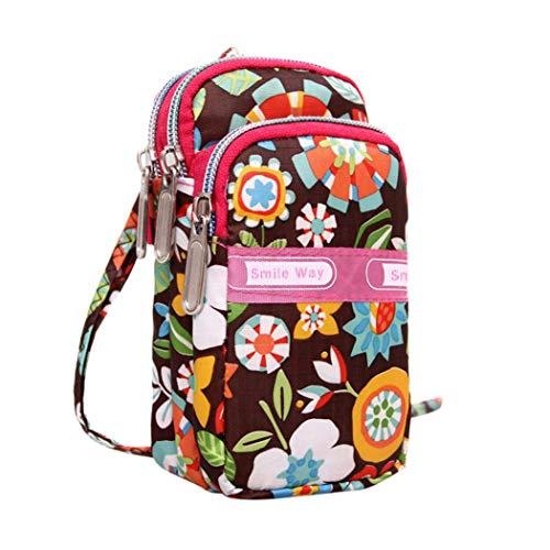 Kanpola Women's Fashion Printing Zipper Sport Shoulder Bag Mini Wrist Purse Multicolor Multicolor1