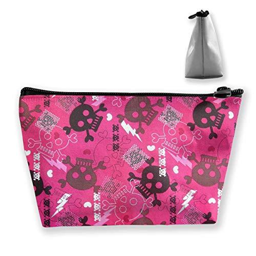 (Halloween Girly Punk Cosmetic Bag Travel Makeup Bag Portable Accessories Organizer Storage Bag 8.7
