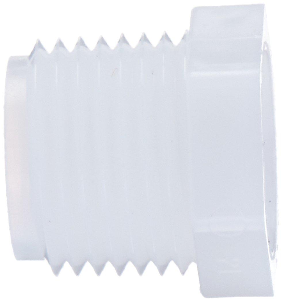 White 3//4 Male NPT x 1//2 Female NPT Nylon Pack of 10 Parker Hannifin 309P-12-8N-pk10 Par-Barb Reducer Bushing Fitting