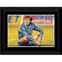 David Beckham - Sitting Framed Mini Poster - 10.2x14.7cm